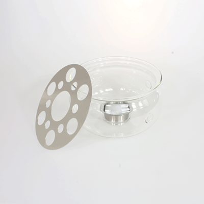 Värmare för tekannor i glas