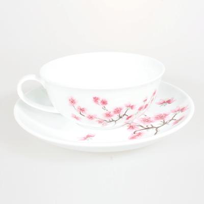 Tekopp med fat - Cherry Blossom