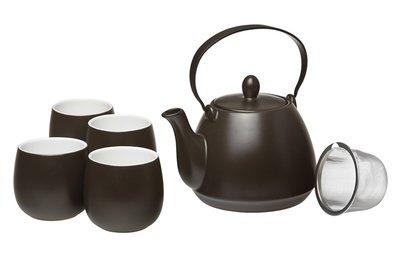 Noir Tea set - Tekanna & koppar
