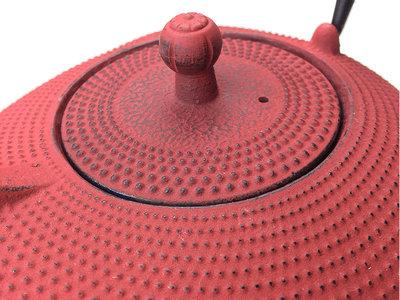 Tekanna i gjutjärn 0,9L - Röd