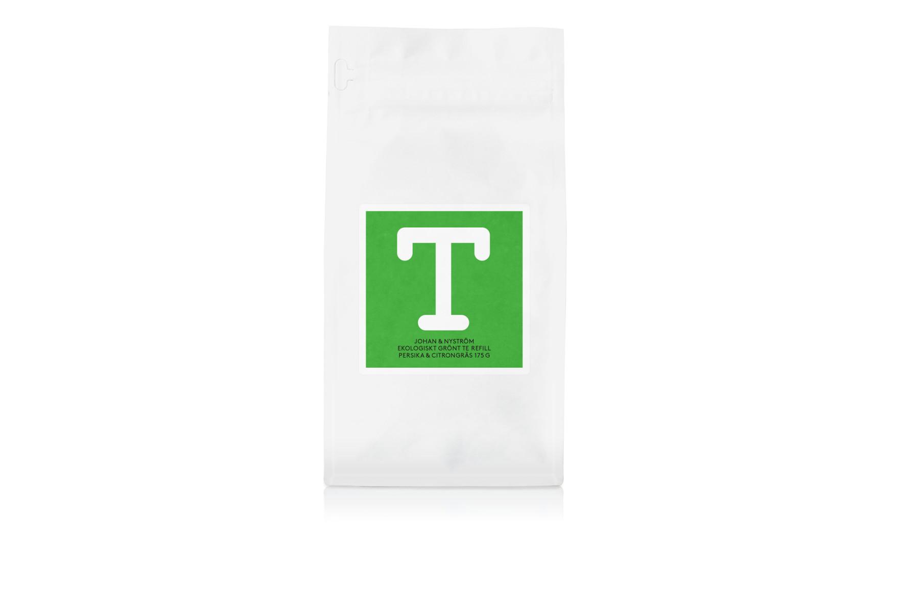T-TE Persika & Citrongräs Refill - Grönt te