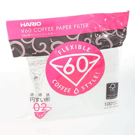 Kaffefilter Hario V60 02 - Vita Pappersfilter