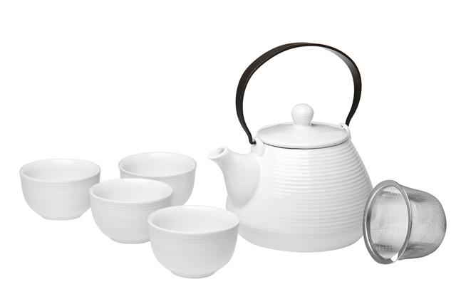Blanc Tea set - Tekanna & koppar